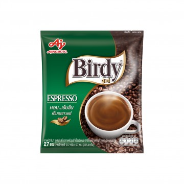 AJINOMOTO - BIRDY ESPRESSO LESS SUGAR (GREEN PACKET) 13.2G X 27 STICKS