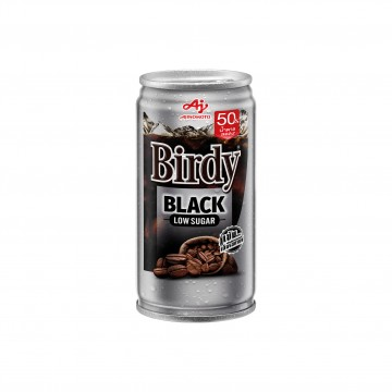 AJINOMOTO - BIRDY BLACK LOW SUGAR (SILVER CAN) 180G