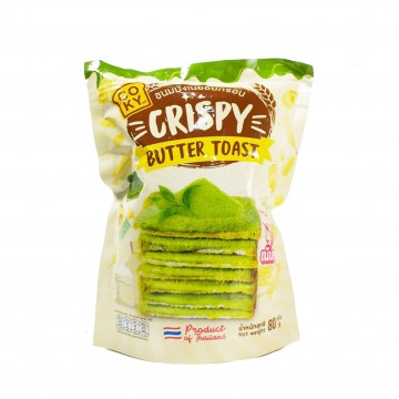 COKY - Crispy Butter Toast (Matcha Green Tea) 80g