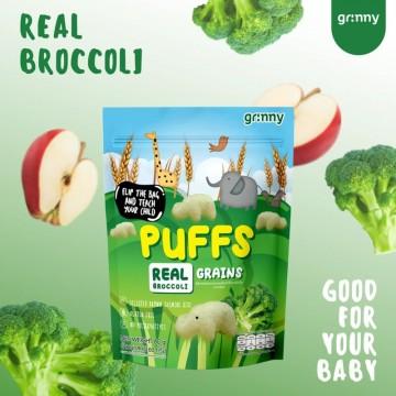 GRINNY - BROWN JASMINE RICE PUFFS (REAL BROCOLLI & APPLE) 60G