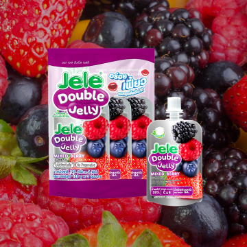 JELE - DOUBLE JELLY 60 KCAL MIXED BERRY FLAVOUR (125G X 3 POUCHES)