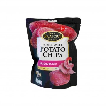 JIRAPORN - Purple Sweet Potato Chips 80g