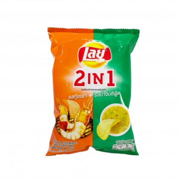 LAY'S - 2 in 1 (Grilled Shrimp & Seafood Sauce) 48g