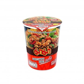 MAMA - Instant Cup Noodles (DRY/Spicy Basil Stir Fried Flavour) 60g