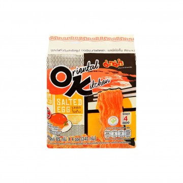 MAMA - ORIENTAL KITCHEN DRY INSTANT SALTED EGG NOODLES 85G X 4